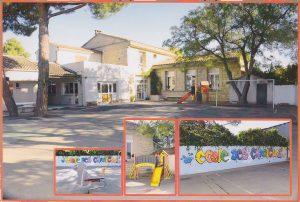 Cour de l'école des Garrigues prise en 2014