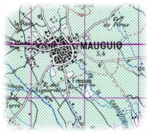 Carte de Mauguio de 1950